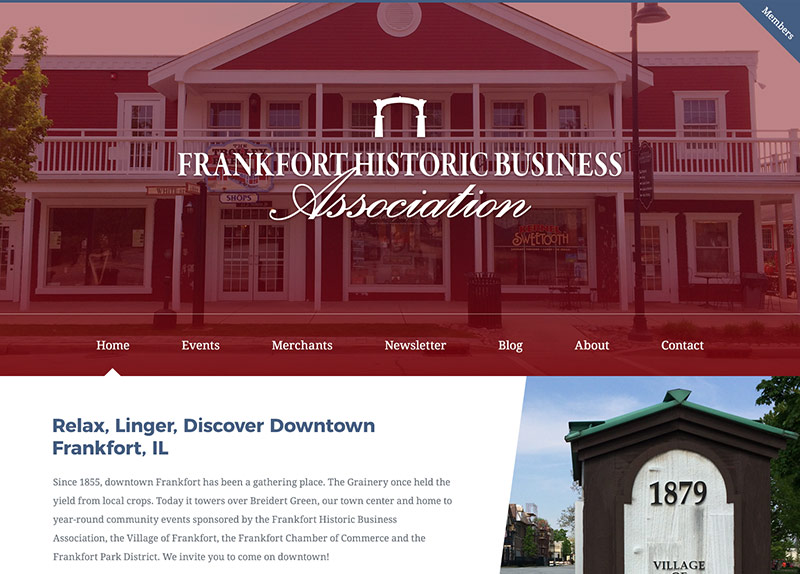 Frankfort Historic Business Association website thumbnail