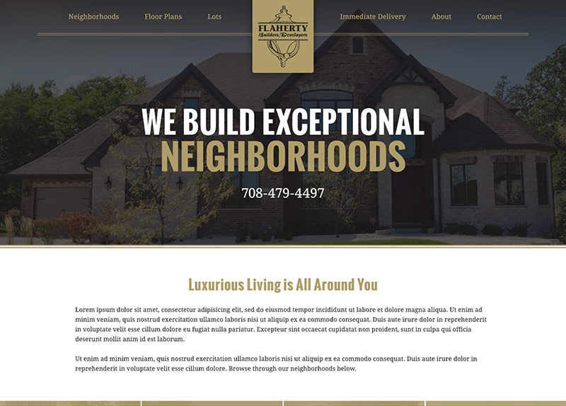 Flaherty Builders website thumbnail