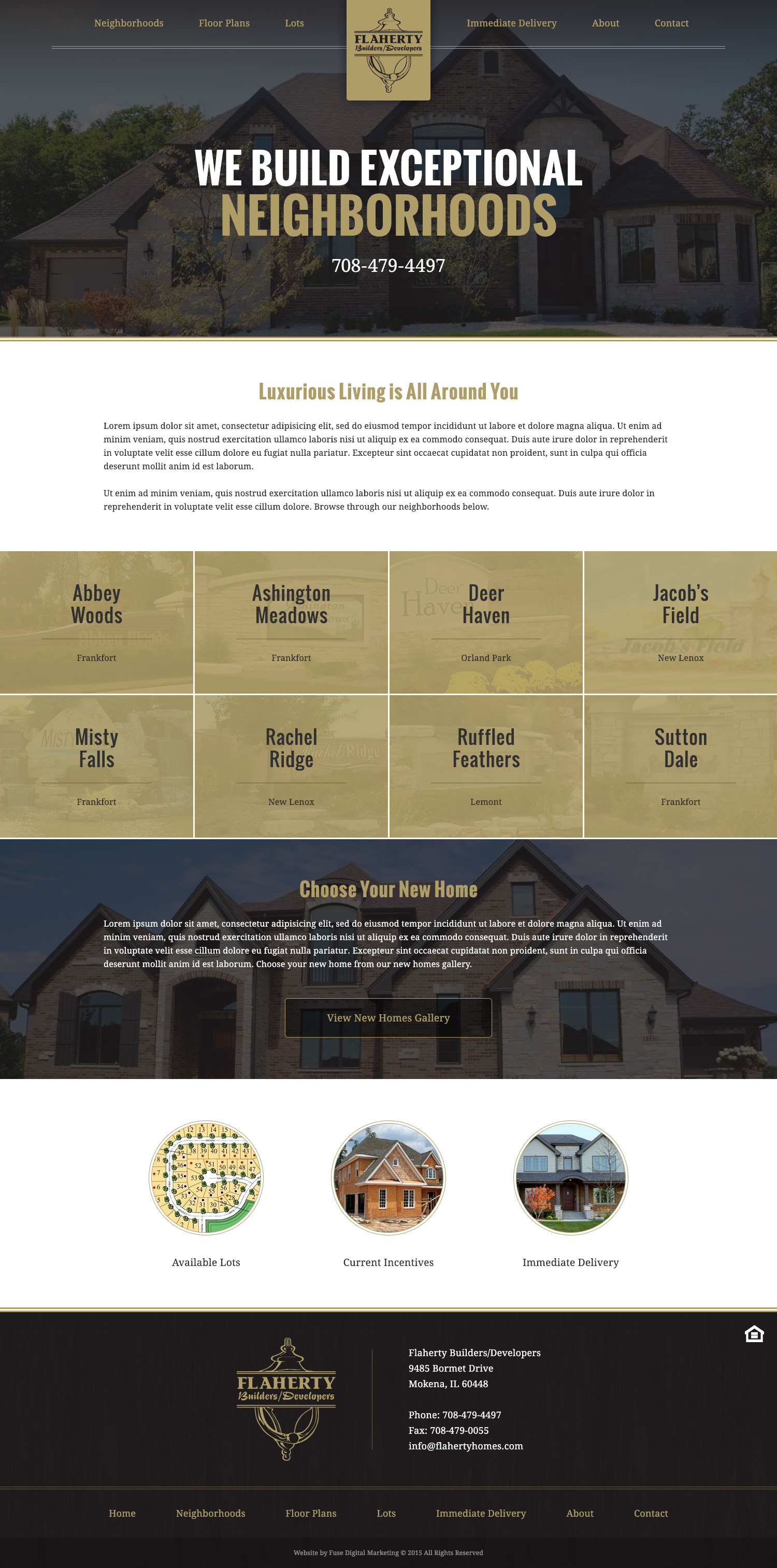 Flaherty Builders website design